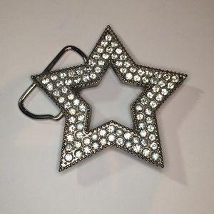 Sparkly star belt buckle